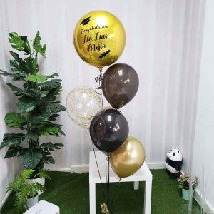 arreglo globos con helio