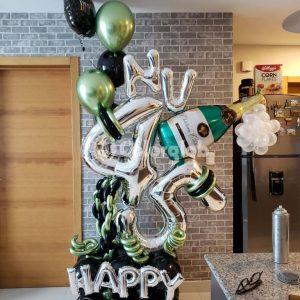 cumpleaños globos hombre republica dominicana