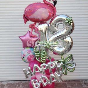 flamingo globo cumpleaños