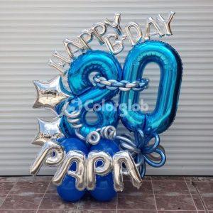 globos azules numero metalicos santo domingo
