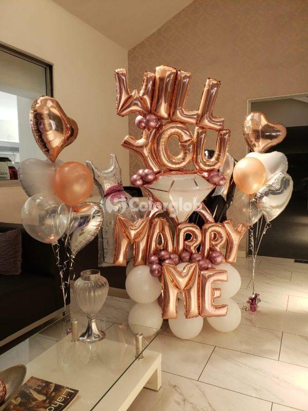 pedida de matrimonio globos